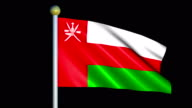 Large Looping Animated Flag of Oman video