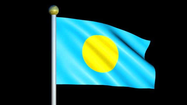 Large Looping Animated Flag of Palau video