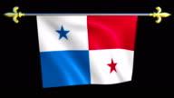 Large Looping Animated Flag of Panama video