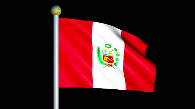 Large Looping Animated Flag of Peru video