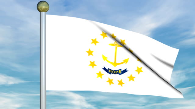 Large Looping Animated Flag of Rhode Island video