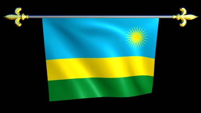 Large Looping Animated Flag of Rwanda video