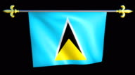 Large Looping Animated Flag of Saint Lucia video