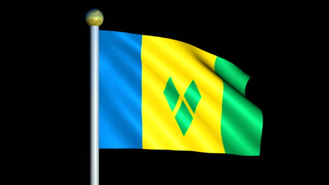 Large Looping Animated Flag of Saint Vincent and the Grenadines video