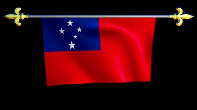 Large Looping Animated Flag of Samoa video