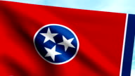 Large Looping Animated Flag of Tennessee video