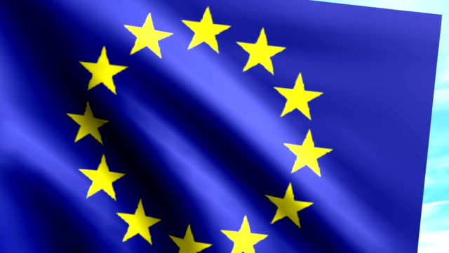 Large Looping Animated Flag of the European Union video