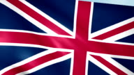 Large Looping Animated Flag of the United Kingdom video