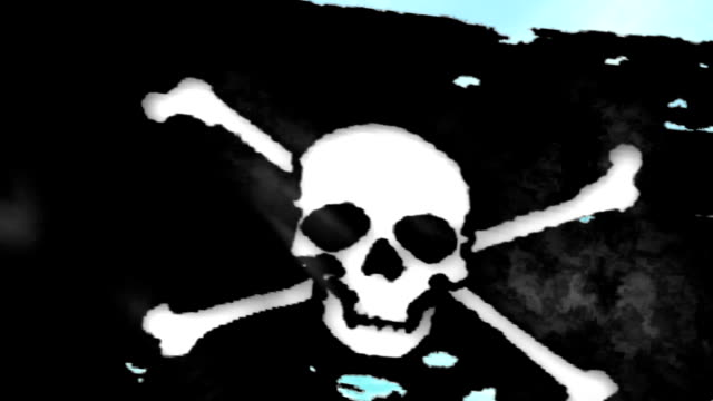 Large Looping Animated Pirate Flag video