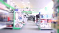 Large modern technical store interior video