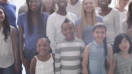 Large Multiethnic Group of People video