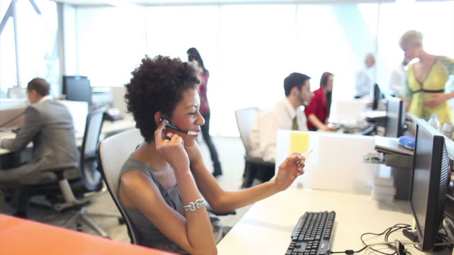 Large office call centre video