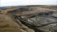 Large Open Mine - Mining Site - Aerial View - Wyoming, Uinta County, United States video