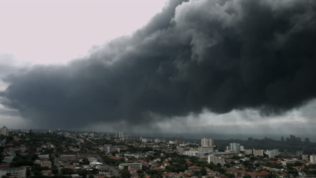 Large pall of smoke over Durban city. video