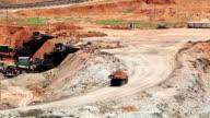 Large Truck loading Coal mine video