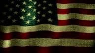 Large USA Flag Waving (Seamless Looping Video), video