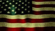 Large USA Flag Waving (Seamless Looping Video) video