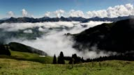 Large view in high mountains Alps video