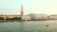Large view of the Venice taken from a boat sailing the Canal,St Mark's Square video