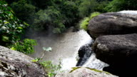 Large waterfall amid lush forests of Khao Yai National Park video