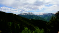 Large Wide Angle Snowmass Aspen Wilderness National Forest Land Time-Lapse of Epic Elk Mountain Valley on Top Aspen Ski Resort video