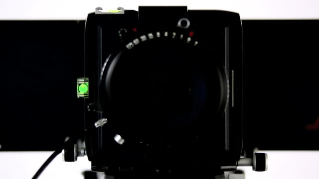 HD Large-format camera front view (4 clips) video