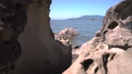 Larrabee State Park, Rock Formations, Washington 4K, UHD video