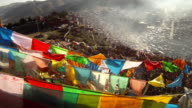Larung Gar(Larung Five Sciences Buddhist Academy). a famous Lamasery in Seda, Sichuan, China. video