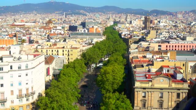 Las Ramblas in Barcelona video