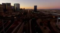 Las Vegas Aerial Cityscape Freeway Dawn video