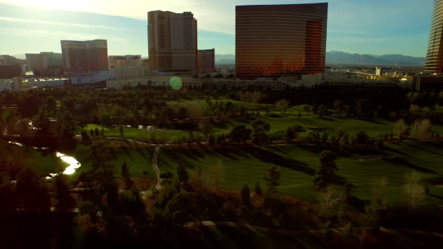 Las Vegas Aerial Cityscape Golf Course video