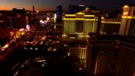 Las Vegas Aerial Cityscape Strip Dawn video