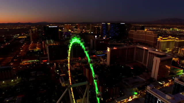 Las Vegas Aerial Cityscape Strip Dawn video