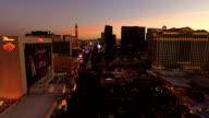Las Vegas Aerial Cityscape Strip Dusk video