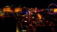 Las Vegas Aerial Cityscape Strip Night video