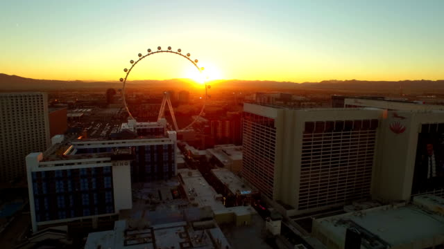 Las Vegas Aerial Cityscape Strip Sunrise video