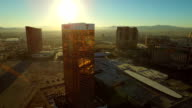 Las Vegas Aerial Cityscape Strip Sunrise video
