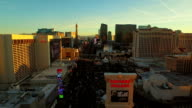 Las Vegas Aerial Cityscape Strip Sunset video