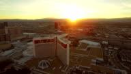 Las Vegas Aerial Cityscape Strip Sunset video