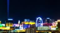 Las Vegas City Center Night Time Lapse Glow video