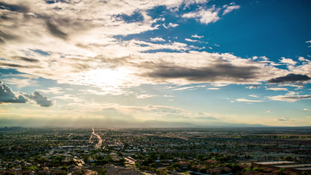 Las Vegas from frenchman mountain time lapse 4K video