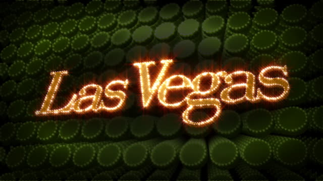 Las Vegas - Glitter Sparkle Text video