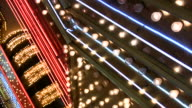 Las Vegas Neon Lights flickering 9 video