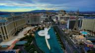 Las Vegas, NV day to night time lapse video