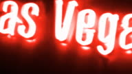 Las Vegas Red Neon Sign, HD 1080 video