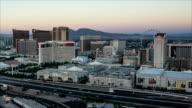 Las Vegas Skyline Panning Night Time Lapse video
