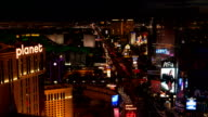 Las Vegas Strip Night Time Lapse video