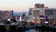 Las Vegas Strip view at Dusk Timelapse video