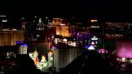 Las Vegas Strip view Closeup at Night video