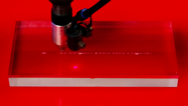 Laser cnc machine engraving design pattern on transparent acryl plate video